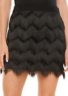 ELLA MOSS Stardust Zigzag Fringe Mini Skirt
