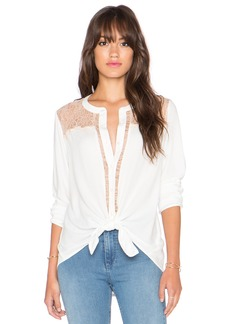 Ella Moss Stella Button Up Lace Blouse