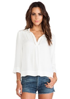 Ella Moss Stella Collared Blouse in Ivory