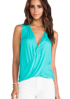 Ella Moss Stella Crossover Tank in Green