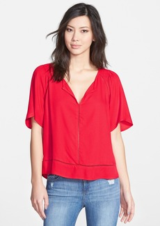 Ella Moss 'Stella' Ladder Stitch Split Neck Top