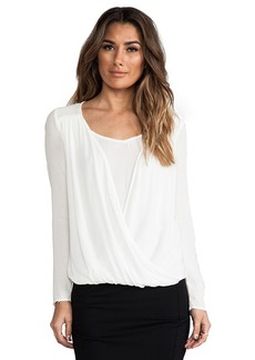 Ella Moss Stella Long Sleeve Top in Ivory