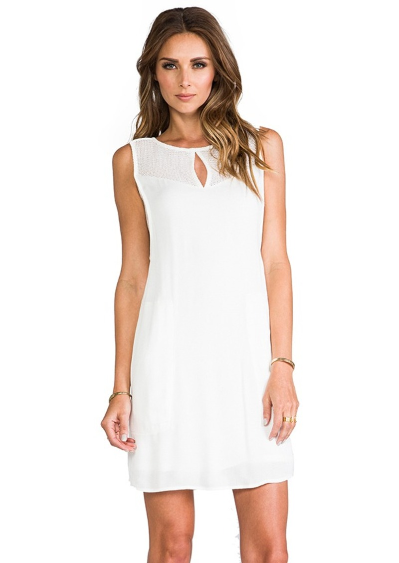 Ella Moss Stella Mesh Shift Dress in Ivory