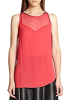 Ella Moss Stella Sheer-Yoke Top