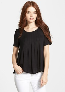 Ella Moss 'Stella' Short Sleeve Pleat Front Top