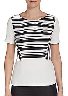 Ella Moss Striped Short-Sleeve Top