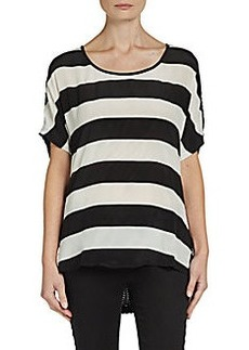 Ella Moss Striped Silk Top