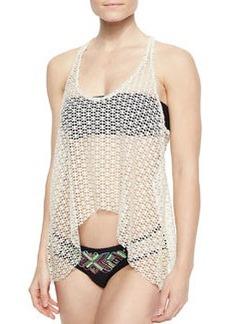 Ella Moss Swim Dream Weaver Netted/Solid Top