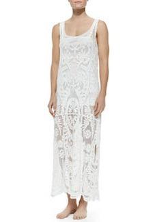 Ella Moss Swim Sleeveless Lace Dress W/ Dropped Waist