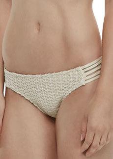 Ella Moss Swim Strappy-Side Crochet Swim Bottom