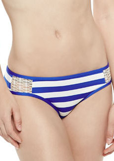 Ella Moss Swim Striped Crochet-Side Swim Bottom