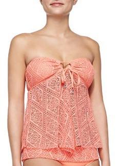 Ella Moss Swim Tie-Front Cutout Bandini Top