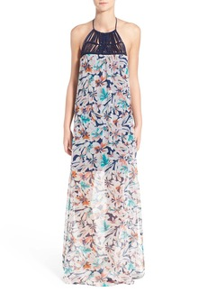 Ella Moss 'Tahiti' Silk Halter Maxi Dress