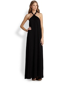 Ella Moss Tali Stretch Jersey Halter Maxi Dress