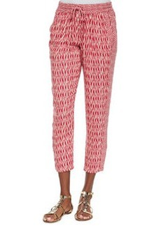 Ella Moss Tempe Crimson Print Cropped Pants