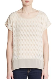Ella Moss Textured Chiffon Top