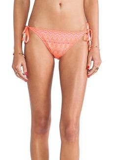 Ella Moss Tie Side Bikini Bottoms in Orange