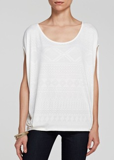 Ella Moss Top - Lawren Burnout
