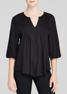 Ella Moss Top - Luann Embroidered
