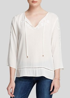 Ella Moss Top - Rosie Embroidered