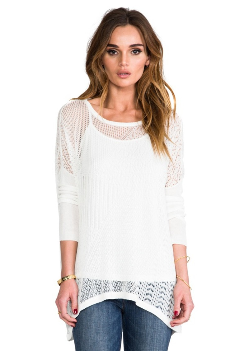 Ella Moss Tori Sweater in White