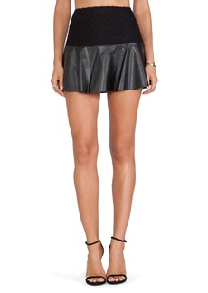 Ella Moss Trinity Faux Leather Skirt in Black