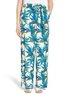 Ella Moss Tropical Print Tie Waist Pants