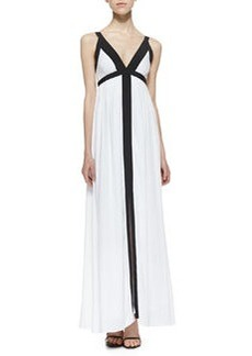 Ella Moss Two-Tone Slit Maxi Dress