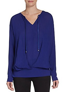 Ella Moss V-Neck Draped Top