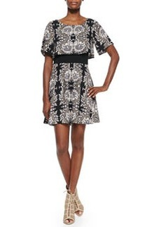 Ella Moss Valerie Short-Sleeve Printed Dress