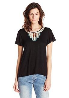 Ella moss Women's Adobe Embroidered Jersey Tee Shirt