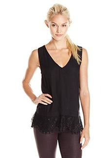 Ella moss Women's Amara Lace Tank, Black, Medium
