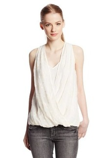 Ella Moss Women's Bekah Crepe Sleeveless Hi-Lo Top