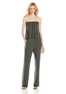 Ella moss Women's Bella Jersey Strapless Jumpsuit, Algae, Large