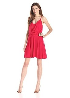 Ella moss Women's Bella Jersey Strappy Dress, Rojo, Small