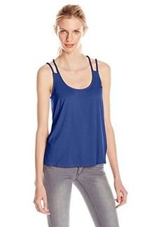 Ella moss Women's Bella Jersey Strappy Tank Top, Indigo, Medium
