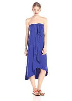 Ella moss Women's Bella Strapless Jersey Dress, Royal, Large