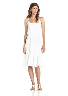 Ella moss Women's Blanca H-Lo Dress, White, Large