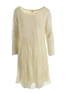 Ella moss Women's Carole Lace Dress, Natural, Large