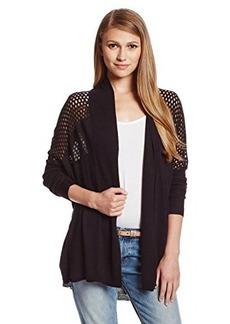 Ella moss Women's Cashmere-Blend Mixed-Stitch Cardigan Sweater