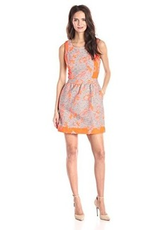 Ella moss Women's Dahlia Jacquard Dress, Nectar, Large