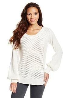 Ella moss Women's Danya Pullover Cashmere Blend Bell Sleeve Sweater