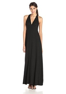 Ella moss Women's Dario Jersey Solid Maxi Dress, Black, Small