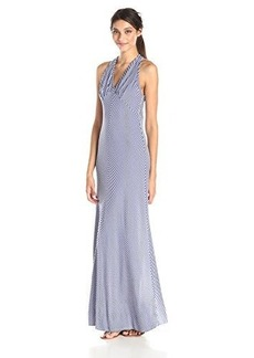 Ella moss Women's Dario Jersey Striped Maxi Dress, Cobalt, Small