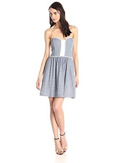 Ella moss Women's Debbie Dress, Azul, Large