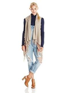 Ella moss Women's Deva Fringe Vest, Sand, Large