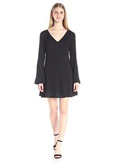 Ella moss Women's Dina Bell Sleeve Dress, Black, X-Small