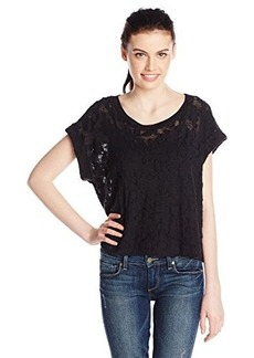 Ella moss Women's Donna Burn Out Tee, Black, Large
