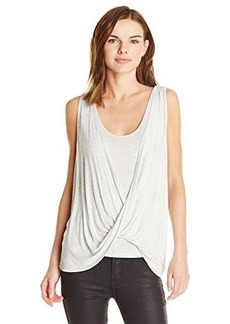 Ella moss Women's Icon Drapey Tank, Heather Grey, Large