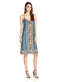 Ella moss Women's Jodi Slip Dress, Marine Multi, Medium